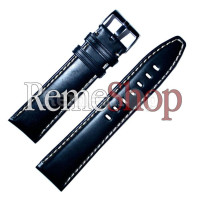 Ремешок кожаный BANDCO 1018 черный 20 мм
