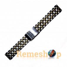 Браслет стальной INOX 3492 комбинированый 20 мм