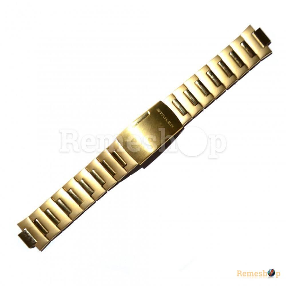 Браслет стальной STAILER 3402 <<ЗОЛОТО>> 20 мм