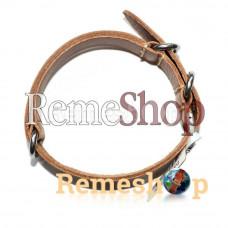 Ремешок кожаный BROS 1673 коричневый светлый 20 мм