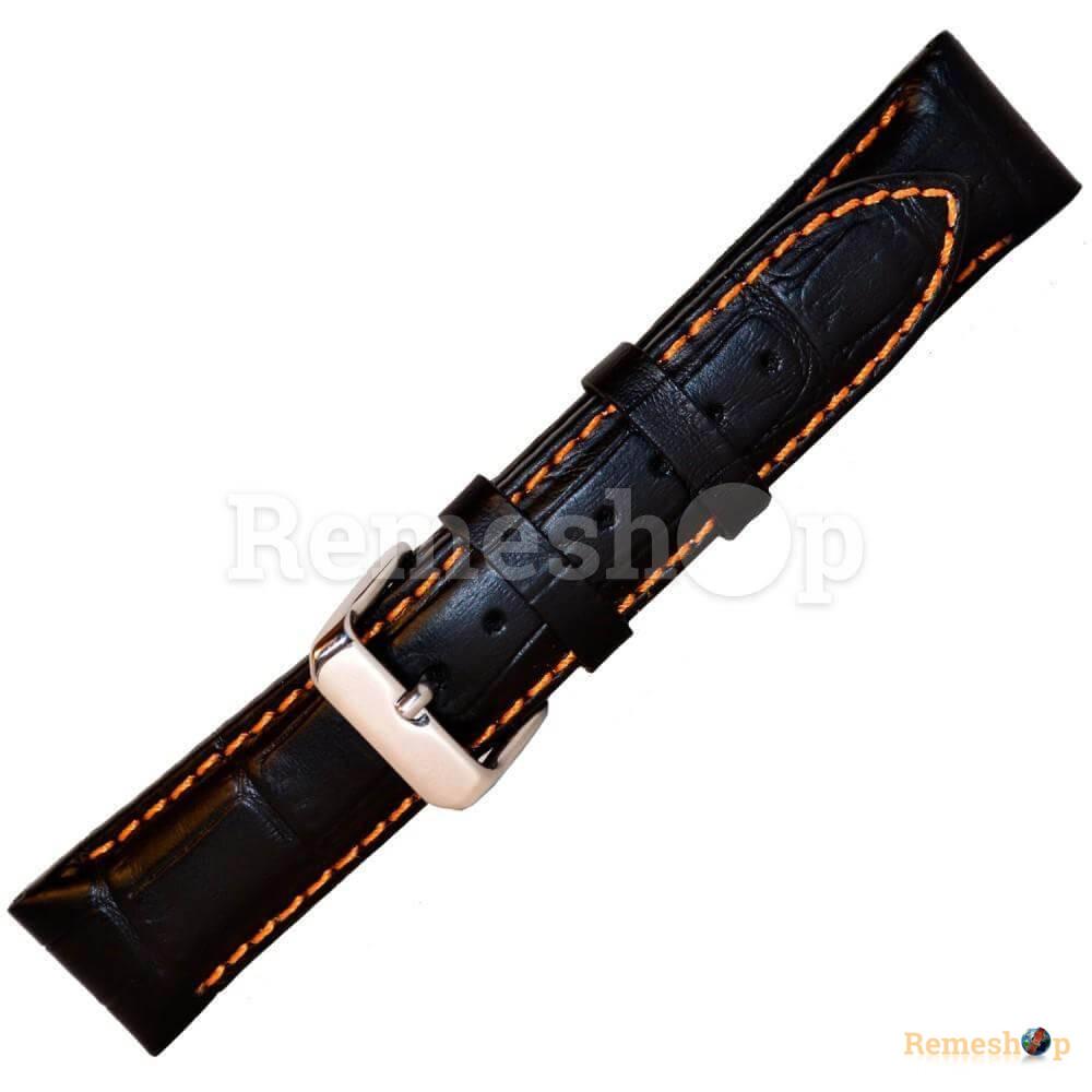 Ремешок кожаный BANDCO 223 черный 18 мм