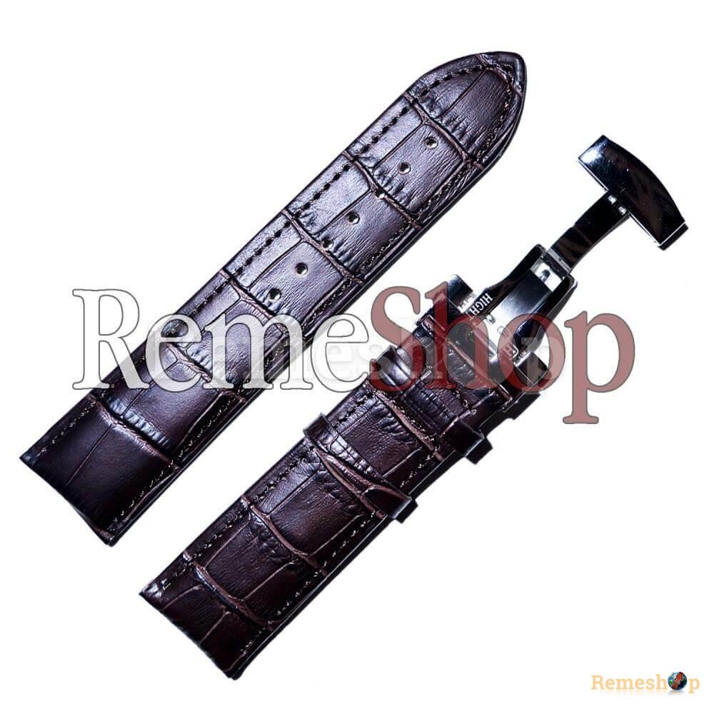 Ремешок кожаный HIHGTONE SH312С 3260 коричневый темный 18 мм