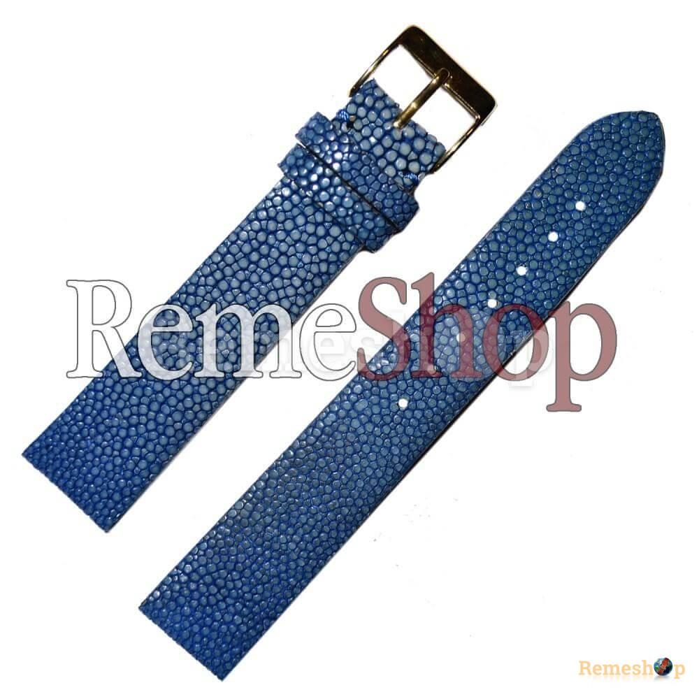 Ремешок кожаный натуральный скат CONDOR SC626 синий 18 мм арт.2122