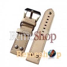 Ремешок кожаный BANDA 1825 бежевый 22 мм