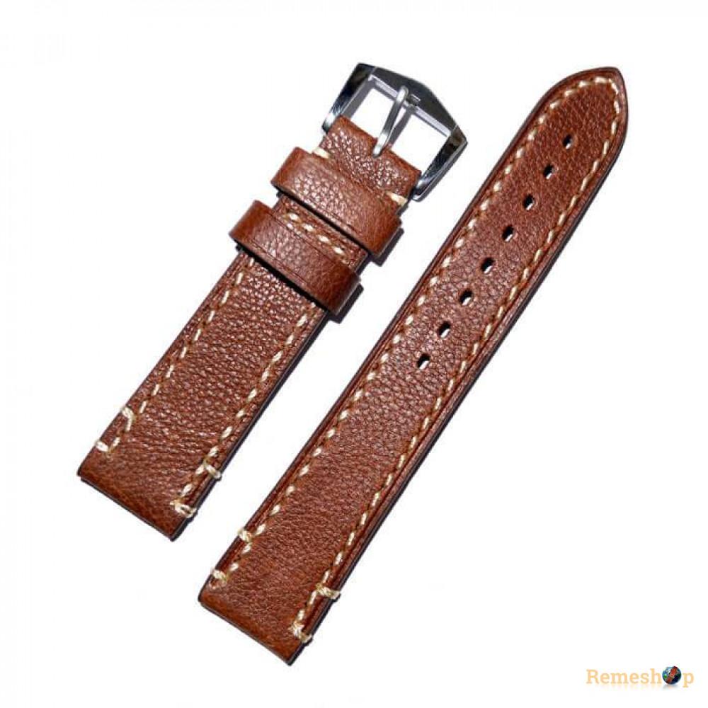 Ремешок кожаный Slava® LIBERTY-19 4238 коричневый светлый 20 мм