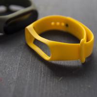 ремешок каучуковый Mi Band 3 желтый арт.0071