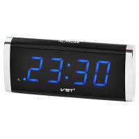 Электронные цифровые настольные часы будильник  VST-730 синий