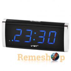 Електронний цифровий настільний годинник будильник VST-730 синій