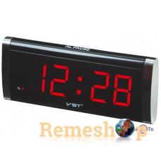 Електронний цифровий настільний годинник будильник VST-730 червоний