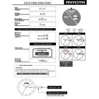 Часовой механизм MIYOTA 2350
