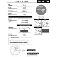 Часовой механизм MIYOTA 2415