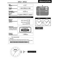 Часовой механизм MIYOTA 5R32