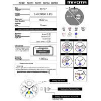 Часовой механизм MIYOTA 6P20