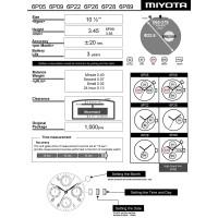 Часовой механизм MIYOTA 6P22