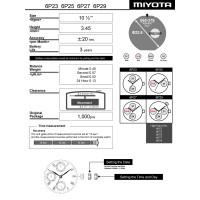 Часовой механизм MIYOTA 6P27