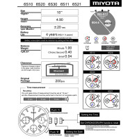 Часовой механизм MIYOTA 6S10