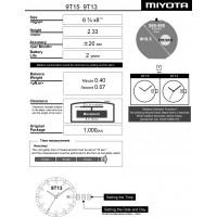Часовой механизм MIYOTA 9T15