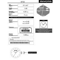 Часовой механизм MIYOTA 9T33