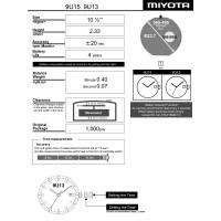 Часовой механизм MIYOTA 9U15