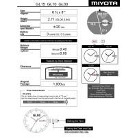 Часовой механизм MIYOTA GL15