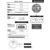 Часовой механизм MIYOTA GN15