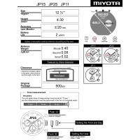 Годинниковий механізм MIYOTA  JP15