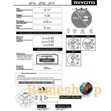 Часовой механизм MIYOTA  JP15