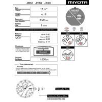 Часовой механизм MIYOTA  JR00