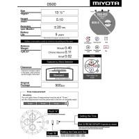 Годинниковий механізм MIYOTA  OS00