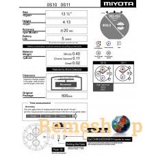 Часовой механизм MIYOTA  OS10