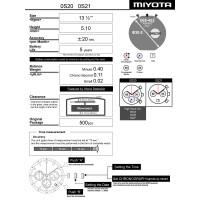 Годинниковий механізм MIYOTA  OS20
