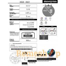 Часовой механизм MIYOTA  OS20