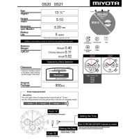 Годинниковий механізм MIYOTA  OS21