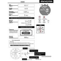 Годинниковий механізм MIYOTA  OS60