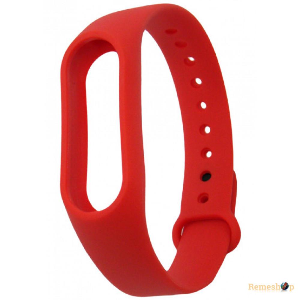 ремешок каучуковый Mi Band 2 красный арт.1244