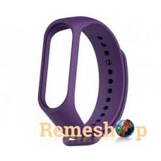 ремешок каучуковый Mi Band 3 фиолетовый арт.1138