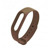 ремешок каучуковый Mi Band 2 коричневый арт.1133